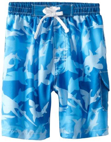 Baby Banz Little Boys' Board Shorts, Fin Frenzy Pattern, 4