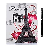 inShang iPad case for ipad 2 ipad 3 ipad 4 High quality Color Painting Smart case cover stand+1pc High end class business stylus Pen