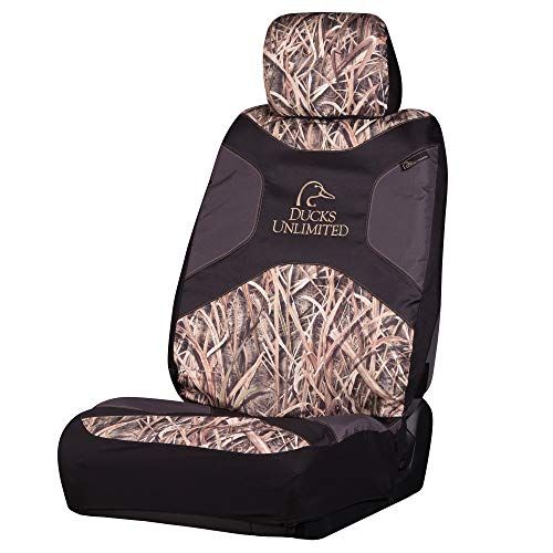 Ducks Unlimited Camo Seat Cover | Low Back | Shadow Grass Blades | Single, Shadow Grass Blades, Single