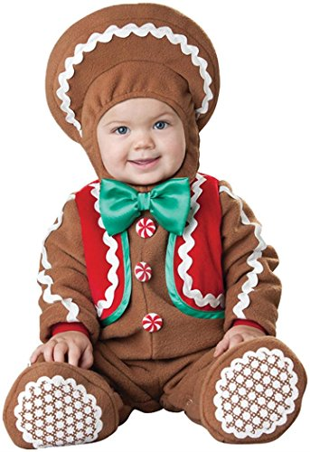 Gingerbread Boy Costumes (InCharacter Costumes Baby's Sweet Gingerbaby Costume Brown/Red/Green, Large)
