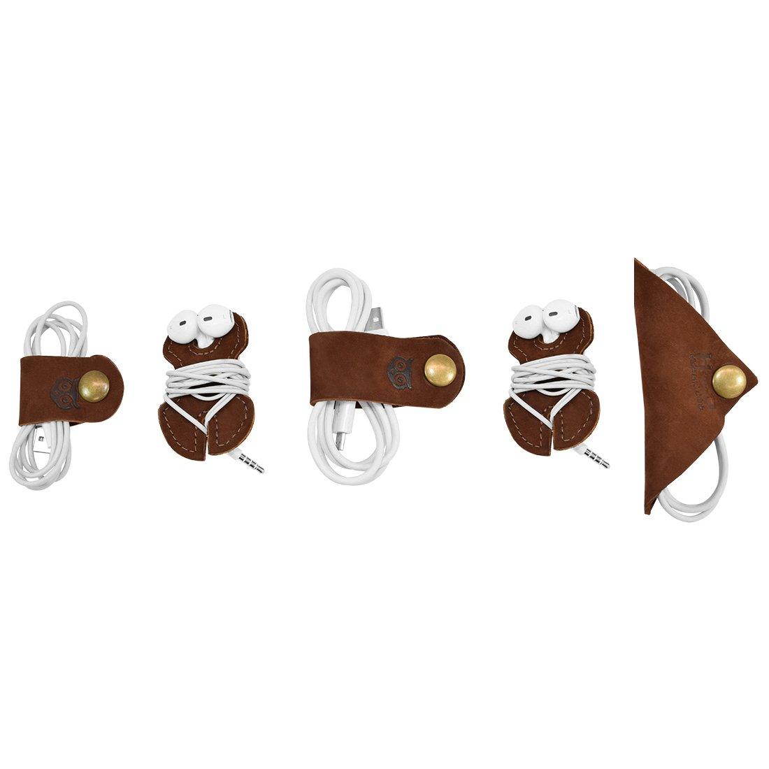 Cord Keeper (Cord Clam) 5-Pack Handmade by Hide & Drink :: Swayze Suede