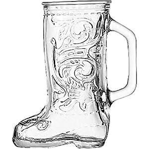Anchor Hocking Glass Cowboy Boot Mug