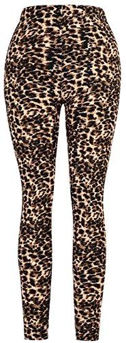 Aenlley Womens High Waist Printed Spandex Leggings - Ultra Soft Workout Legging Color Size Plus Size