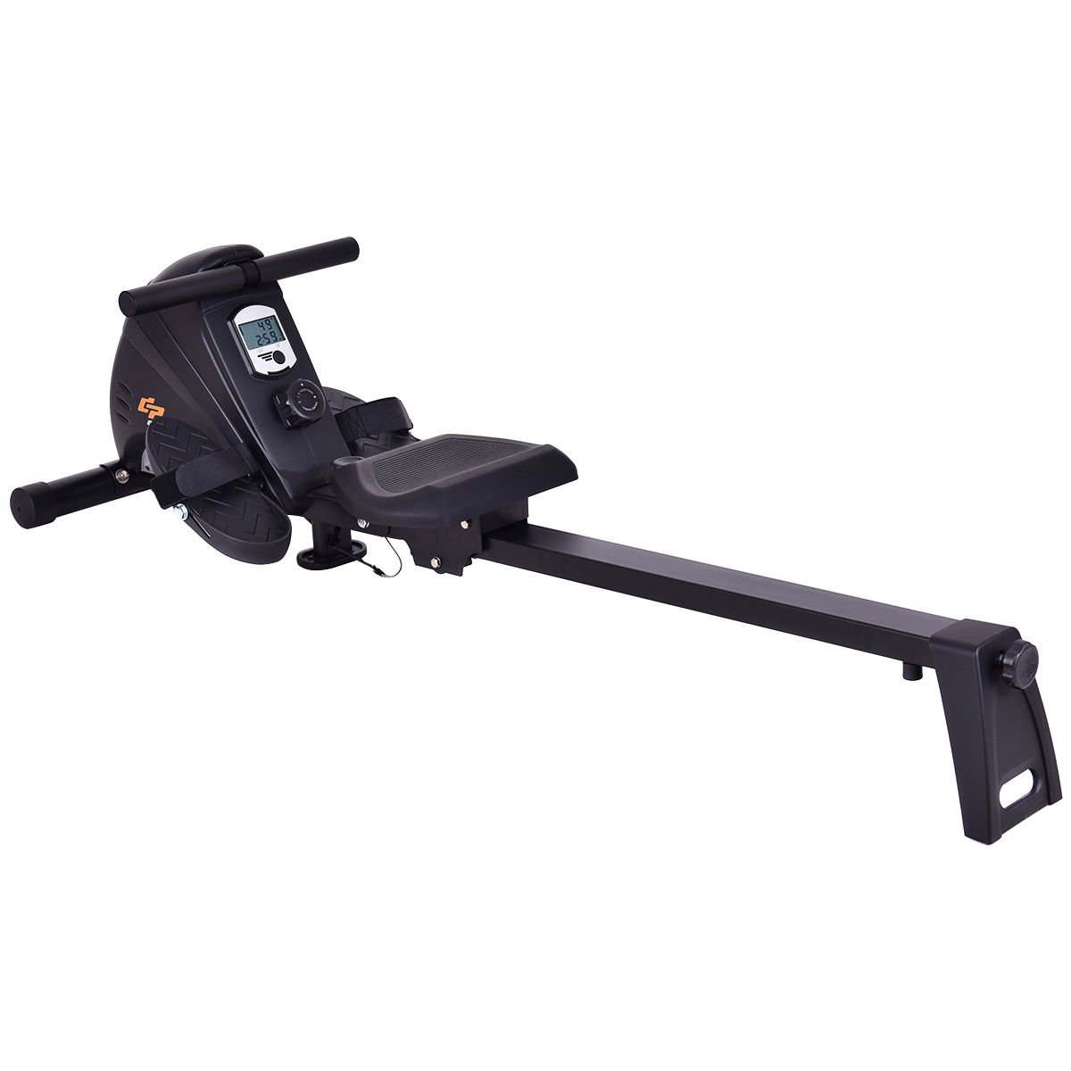 Goplus Magnetic Folding Rowing Machine Row Machine Rower Exercise Cardio Fitness Equipment W/ LCD Monitor by Goplus
