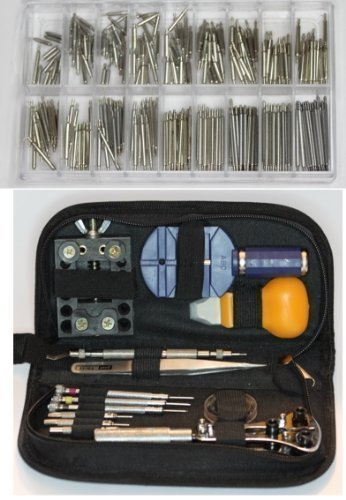 30 teiliges Uhrenwerkzeug Set & 250 Federstege 6-23 mm