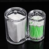 INTBUYING Acrylic Clear Cotton Ball and Swab Organizer Holder Container Comestic Makeup Organizer Makeup Brush Holder Bathroom Orgnizer(Item # 249004)