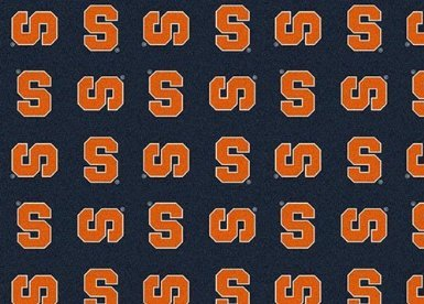 Oval 9'x12' SYRACUSE – Custom NCAA Team Repeat Area Rug (41 sizes and shapes) Broadloom Carpet by MILLIKEN – Collegiate Football Logo with Premium Bound ()