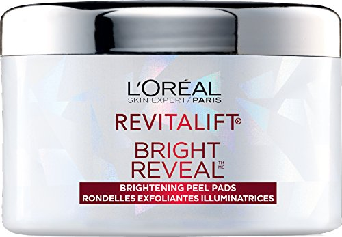 L'Oreal Paris Revitalift Bright Reveal Brightening Peel Pads Face Cleanser & Toner, with 10% Glycolic Complex, 30 pads L'Oreal Paris