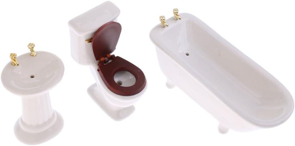 1:12 Kleiner Miniatur Badezimmer Kanonenofen für das Puppenhaus
