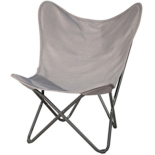 - PatioPost Butterfly Camping Chair Ergonomic High Back Support 350lbs with Removable Cover Outdoor Heavy Duty,Brown