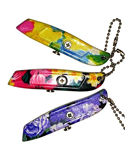 Great Christmas Gift for Women - 3 Piece Mini Floral Flower Box Cutter with 3 positions {jg} Best Value - Dad, Grandma, Sister, Friend, Gay, LGBTQ. by HT