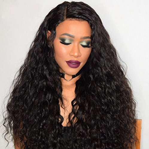 Am Youth Lace Front Wigs Human Hair Brazilian Remy Water Wave Human Hair Wig for Black Women With Baby Hair 130% Density Natural Color 14 (Wave Hair Wig)