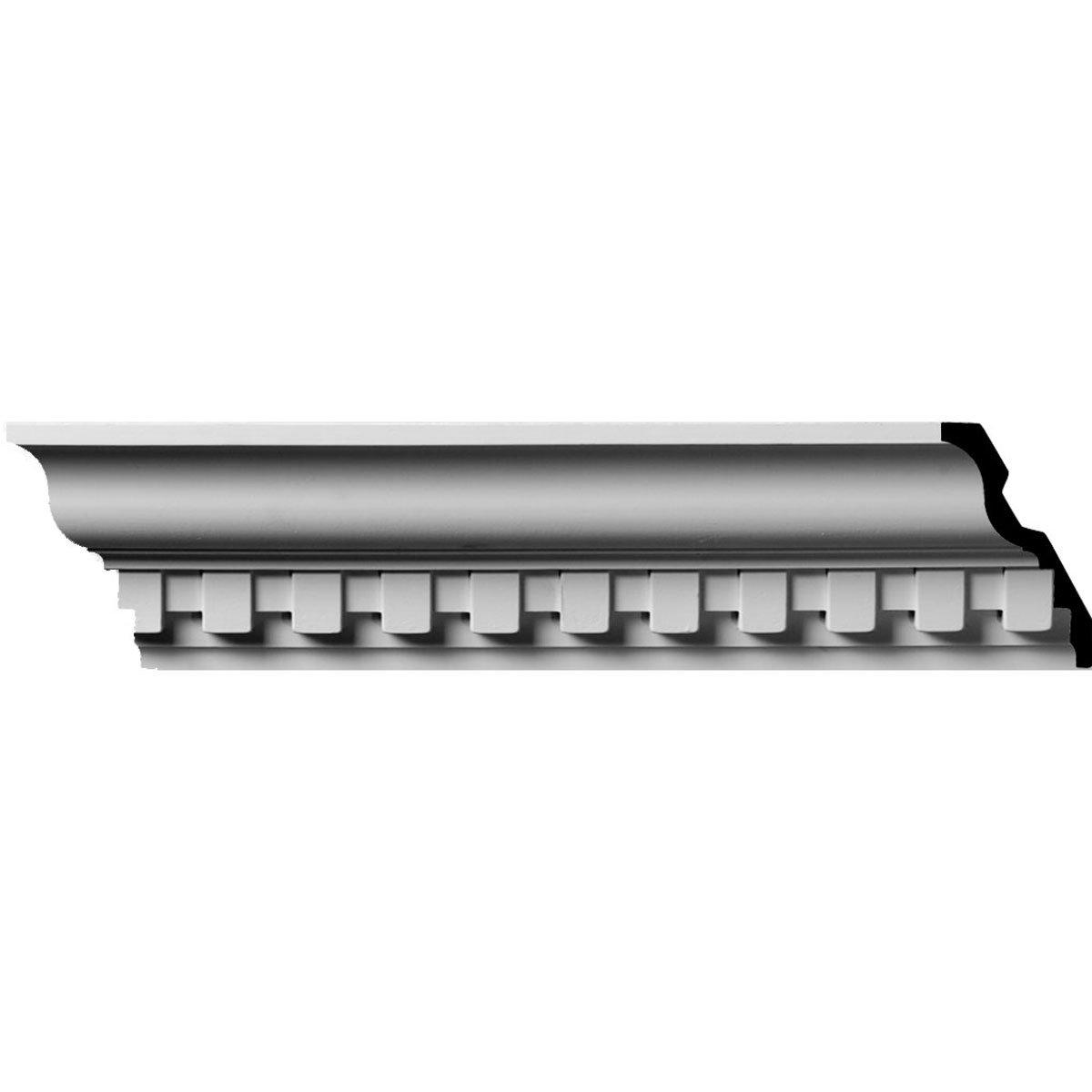 4 5/8''H x 2 7/8''P x 5 1/2''F x 94 1/2''L, (1 3/8'' Repeat) Dentil Crown Moulding