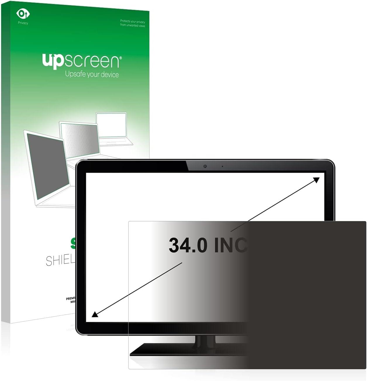 upscreen Blickschutzfilter kompatibel mit Dell U3419W Privacy Filter Anti-Spy Blickschutzfolie Sichtschutz-Folie