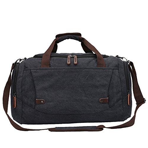 Toupons Men's Overnight Bag Canvas Weekend Travel Duffel Bag