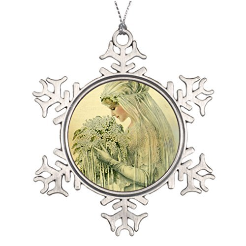 Tree Branch Decoration Vintage Wedding Victorian Bride Bridal Portrait Sports Snowflake Ornaments
