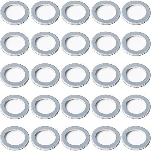 Prime Ave Crush Aluminum Oil Drain Plug Gasket Washers For Hyundai & Kia Part# 21513-23001 (Package of 25)