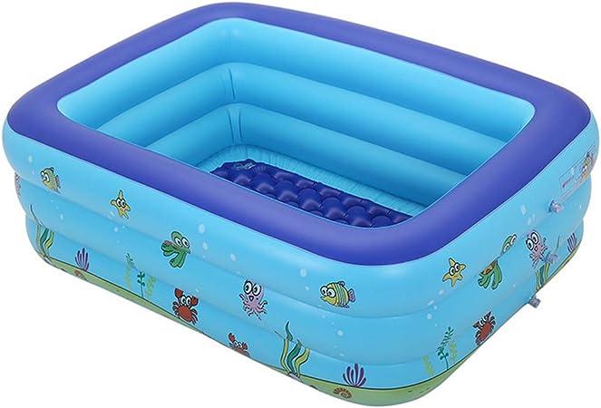 Bañera de Baño para Bebés y Niños, Piscina Cuadrada Hinchable para Niños, Piscina Gruesa para Jugar en el Agua,130CM: Amazon.es: Deportes y aire libre