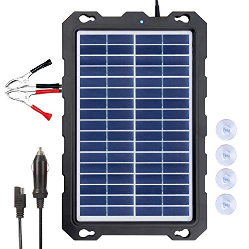 POWOXI 7.5W-Solar-Battery-Trickle-Charger-Maintainer12V Portable Waterproof