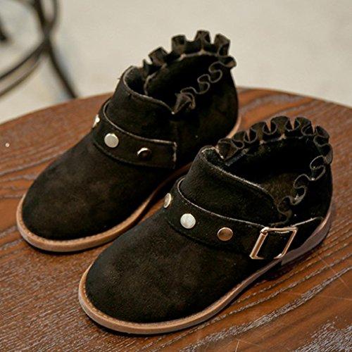 Huhu833 Kinder Mode Mädchen Stiefel Martin Sneaker Winter Dicken Schnee Baby Freizeitschuhe Schwarz