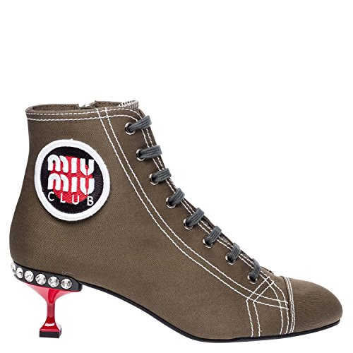 buy cheap best place outlet with paypal order Miu Miu Women's 5T723B3F3WF0161 Brown Fabric Ankle Boots cheap sale great deals knVuVtG4b