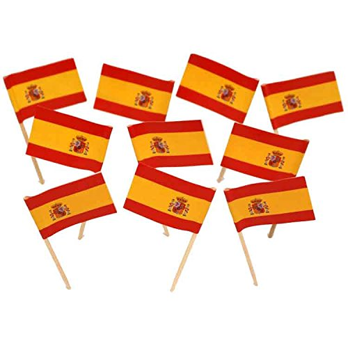 Spain | Spanish Flag Toothpicks (100)]()