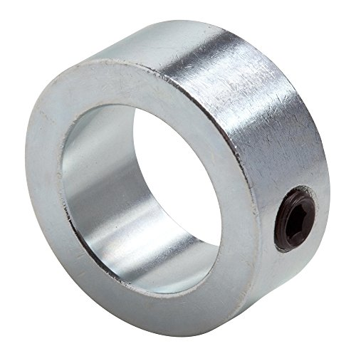 Climax Metal C-012 Shaft Collar, Zinc Plated Steel, Set Screw Style, One Piece, 1/8'' Bore, 3/8'' OD, 1/4'' Wide, With 6-32 Set Screw, (10-Pack) by Climax Metals