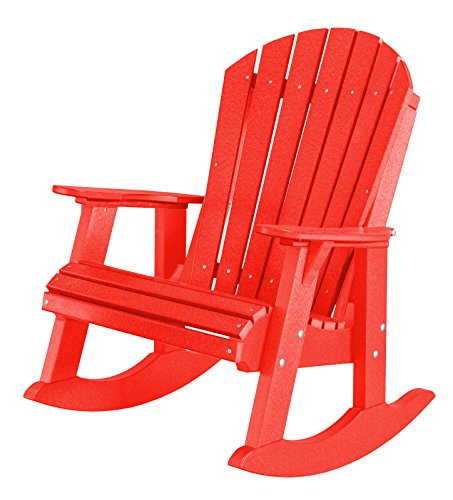 Cottage High Chair - Little Cottage Company Heritage High Fan Back Rocker, Bright Red