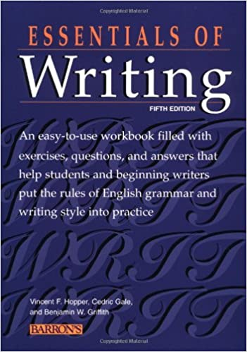 Amazon.com: Essentials of Writing (9780764113680): Vincent F ...