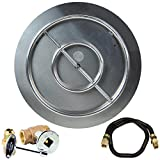 Dreffco 30 Inch NG Stainless Steel Burner Pan and Ring Complete Fire Pit Kit