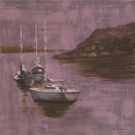 Oil Painting 'the Boats', 30 x 30 inch / 76 x 77 cm , on High Definition HD canvas prints is for Gifts And Garage, Gym And Laundry Room Decoration, create your own art
