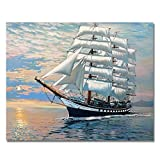 Rihe Paintworks Paint By Number Kits Smooth Sailing 1620 Inch (Frameless)