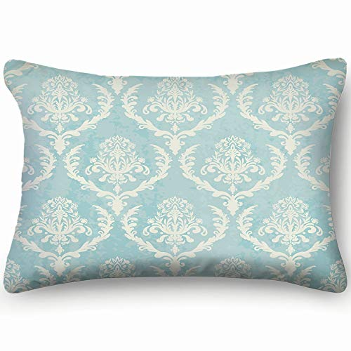 bag pack home Blue Vintage Texture Wallpaper Vintage Wallpaper Vintage Skin Cool Super Soft and Luxury Pillow Cases Covers Sofa Bed Throw Pillow Cover with Envelope Closure 2030 inch