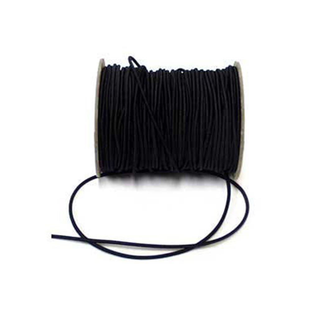 2.5 mm Round black Elastic Cord - per 3 metres FREE P&P Sewsan Stitch