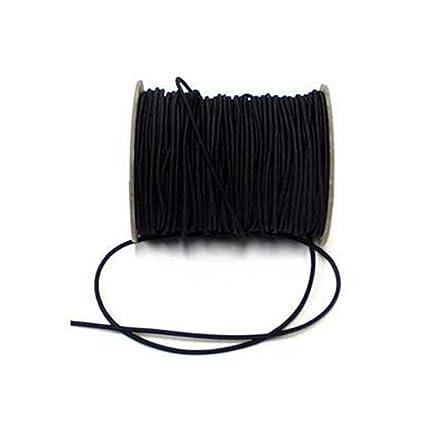 0c20d711778a2 2,5 mm de large cordon élastique rond noir - par 5 mètres  Amazon.fr ...