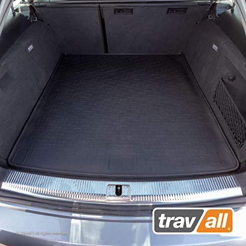 (Travall Liner Compatible with Audi A4 Avant (2008-2015), Audi Allroad (2009-Current), Audi A4 Allroad Quattro & S4 Avant (2009-2016) TBM1019 - All-Weather Black Rubber Trunk Mat Liner)