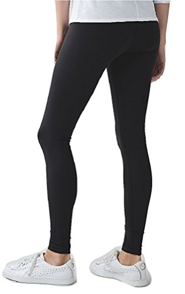 Lululemon Wunder Under Pant III Full On Luon Yoga Pants (Black, 10)