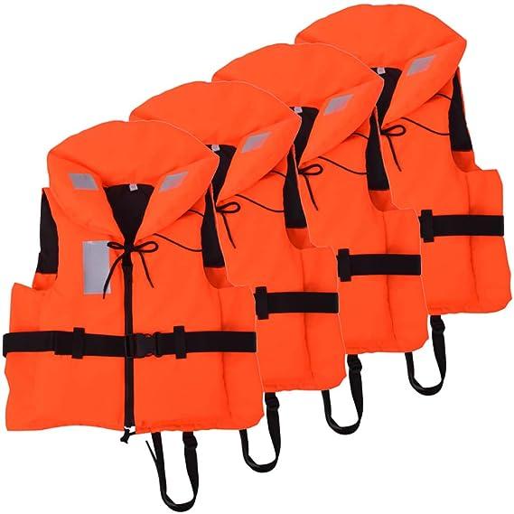 vidaXL 4X Chalecos Ayuda Flotación 60-70 kg Flotador Salvavidas Flotabilidad: Amazon.es: Deportes y aire libre