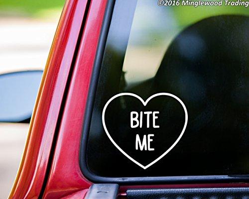 (Minglewood Trading Bite Me Heart vinyl decal sticker 5