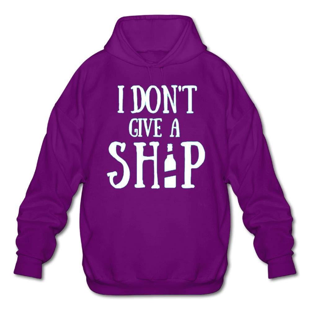 Mens Long Sleeve Cotton Hoodie I Dont Give A Ship1 Sweatshirt
