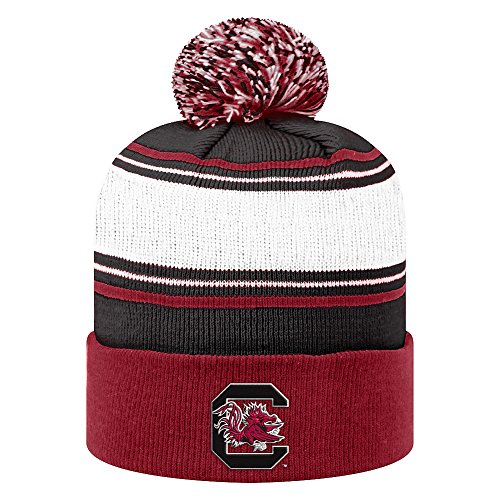Elite Fan Shop South Carolina Gamecocks Knit Winter Beanie Pom Pom Hat - - Beanie Knit Garnet