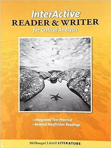 Mcdougal Littell Literature Grade 9 The Interactive Reader