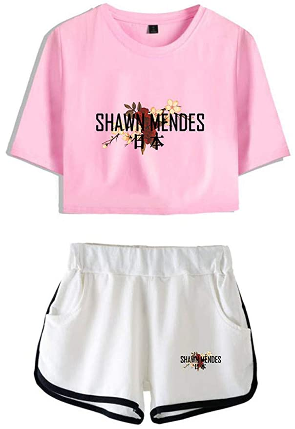 71a22254 Amazon.com: Silver Basic Women's Fashion Shawn Mendes 98 Tops Tee Shirts  Unisex Girl's Summer Sets for Fan Support: Clothing
