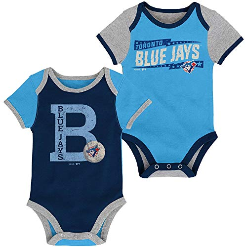 - MLB Newborn Infants Baseball Star 2 Piece Bodysuit Creeper Set (6/9 Months, Toronto Blue Jays)