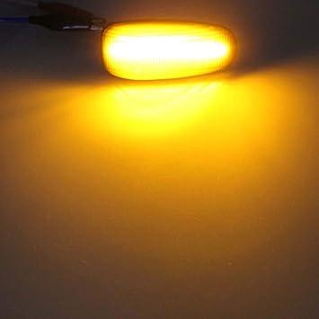 JINGLINGKJ Luces de se/ñalizaci/ón lateral para E-Class Clase C CLK-Class SLK-Class Vito Side Blinker l/ámpara de se/ñal de repetidor de luz marcador de se/ñal de giro de luz 2 piezas