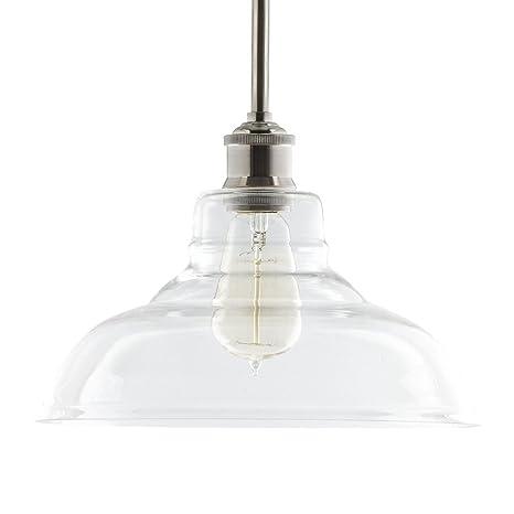 Lucera Contemporary Kitchen Pendant Light - Brushed Nickel Hanging ...