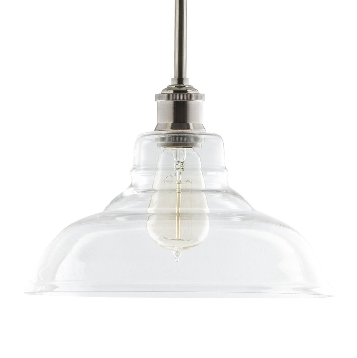 Lucera Contemporary Kitchen Pendant Light - Brushed Nickel Hanging Fixture - Linea di Liara LL-P431-BN by Linea di Liara