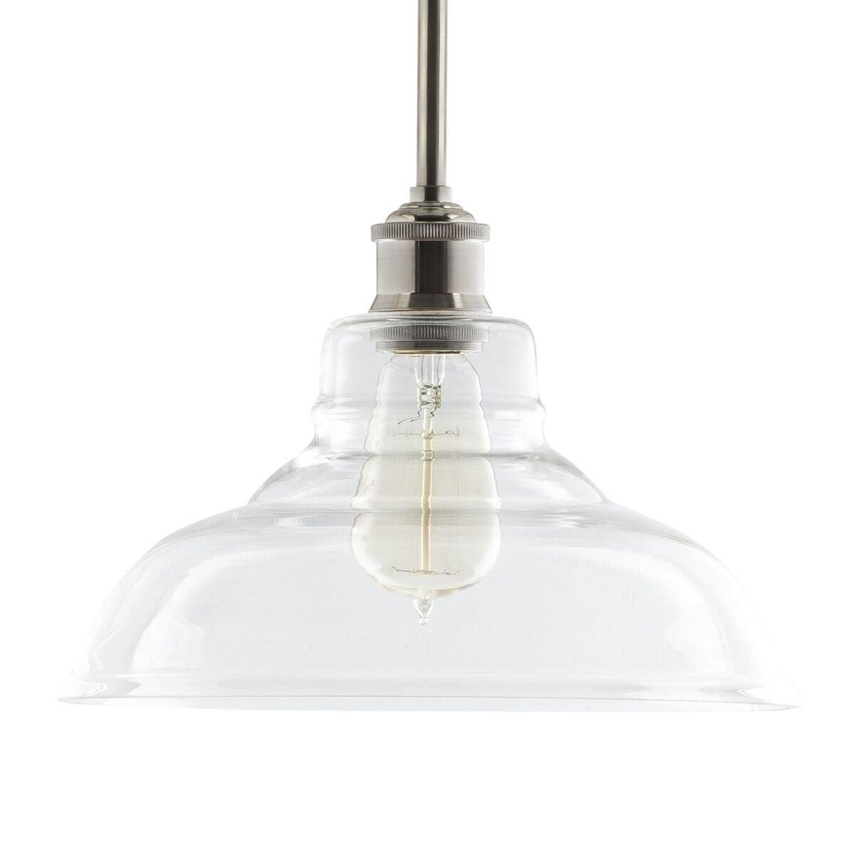 Lucera Contemporary Kitchen Pendant Light - Brushed Nickel Hanging Fixture - Linea di Liara LL-P431-BN