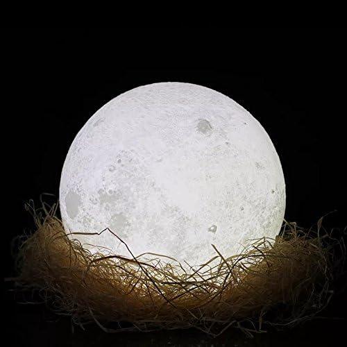 Impresión 3d lampara luna - 15cm recargable patrón de superficie ...
