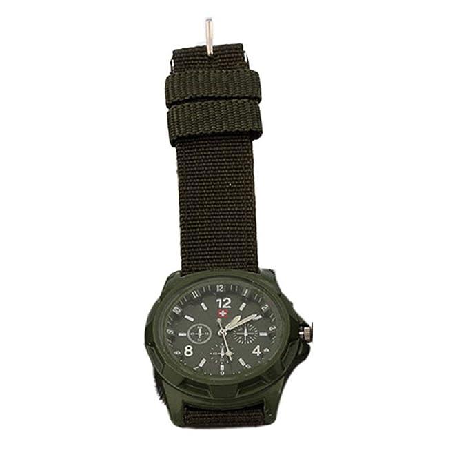 JiaMeng Moda Reloj de Pulsera de Cuarzo de Estilo Militar con Esfera Verde Militar para Soldado de ejército de Soldado (Armada): Amazon.es: Ropa y ...